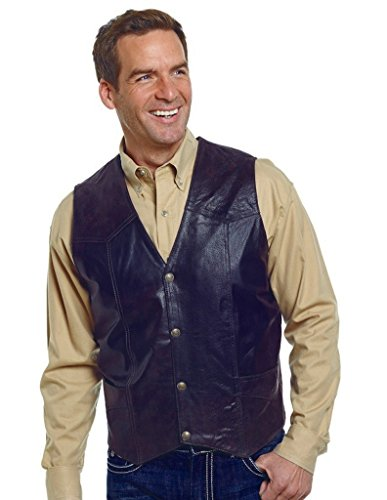 Cripple Creek Men's Boar Suede Vest - Antique Chocolate