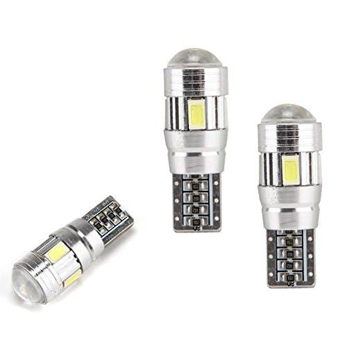 C63® Lot de 2ampoules LED latérales Éclairage sur 360° Blanc brillant Jusqu'à 50000heures