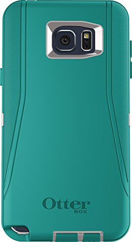 OtterBox Defender Cell Phone Case for Samsung Galaxy Note5 -  Retail Packaging - Sea Crest (Whisper White/Light Teal) -