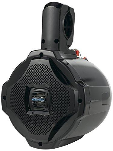Bluetooth Marine Wakeboard Tower Speaker - 6.5 Inch 1000 Watt Two Way Audio Water Resistant Boat Sound System - in a Heavy Duty ABS Enclosure - Lanzar AQAWBS64BK (Black)