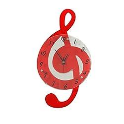 Ysayc Wall Clock Music Notes Living Room Wall Clock Fashion Creative Clock Personalized Quartz Clock Garden Decorative Clock Mute art Clock , 20 inches , 3