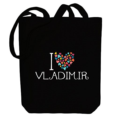 Bag Colorful Male Tote Canvas Names I Idakoos Love Vladimir Hearts 6zwx1paAqa