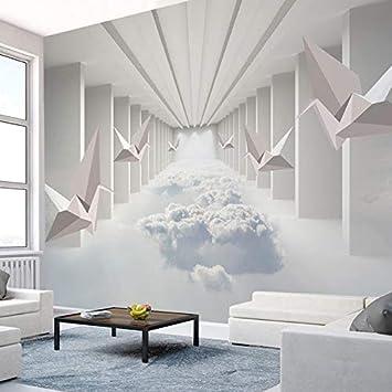 Amazon.com : 3D Moderna Wallpaper Stereo Nuvole di ...