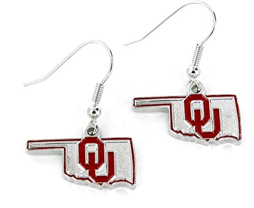 NCAA Oklahoma Sooners Home State Earrings