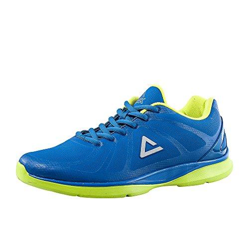 Pic Mens Flyii Série Chaussures De Course Couple Chaussures Bleu / Vert Acide