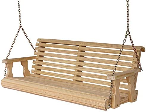 Amish Heavy Duty 800 Lb Roll Back 5ft. Treated Porch Swing