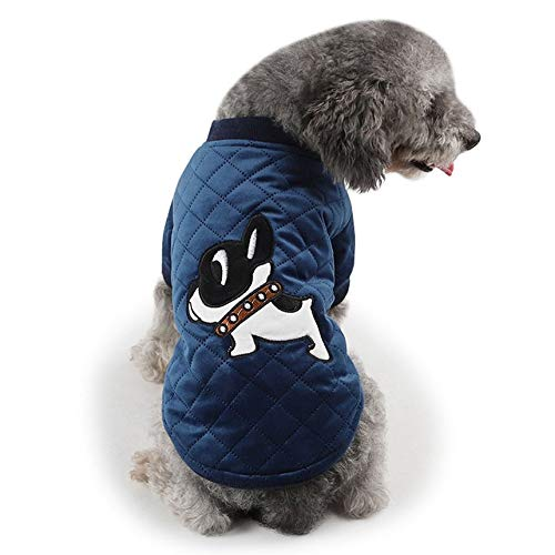 Embroidered Quilted Coat - Velvet Quilted Embroidered Bipod Coat Interesting Pet Toys Practical