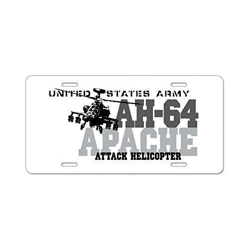 88BoydBertha Army Apache Helicopter Aluminum License Plate - Aluminum License Plate,Front License Plate 12.5x6.5 ()
