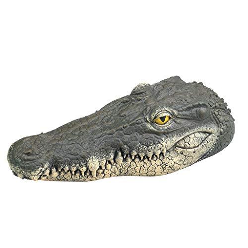 - TADAMI Alligator Head Decoy & Pond Float Reflective Eyes,Floating Crocodile Head for Pool,Pond,Garden and Patio Garden Pond Art Decor