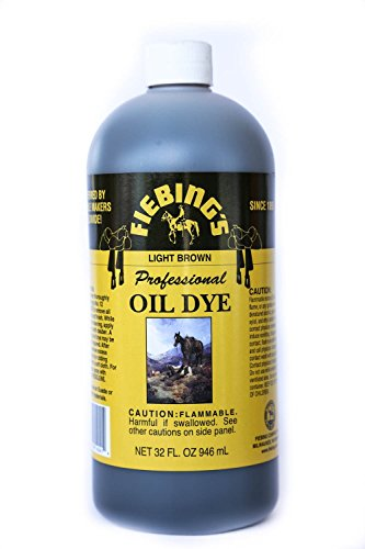 - Fiebing's Light Brown Oil Leather Dye 32oz