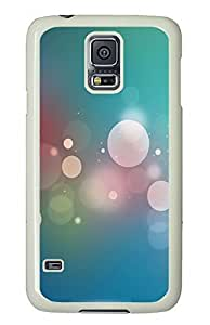 Samsung Galaxy S5 Dreamy White Circle And Light Green Background PC Custom Samsung Galaxy S5 Case Cover White
