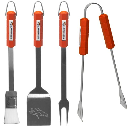 NFL Denver Broncos BBQ Set, 4-Piece