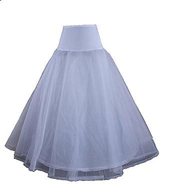 LuYan Womens 12 style Wedding Petticoat Bridal Crinoline Prom Underskirt Slips (① Lycra Waist A