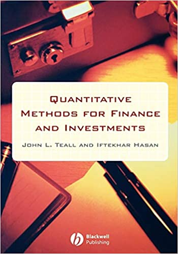 Amazon com: Quantitative Methods for Finance and Investments