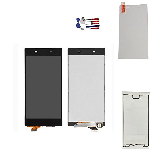 DANDELION for Sony z5 LCD E6633 E6683 E6653 E6603 Full LCD Display Touch Screen Digitizer Assembly+ Sony Screen Replacement Part Tools,Tempered Glass Screen Protector (Black) by Dandelion