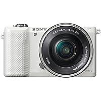 Sony A5000 ILCE5000LW.CEC Appareil photo num?rique hybride 20,1 Mpix Zoom optique 3x Blanc + Objectif 16-50 mm r?tractable Argent