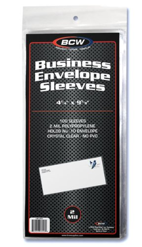 BCW Business Envelope Sleeves 4 1/4