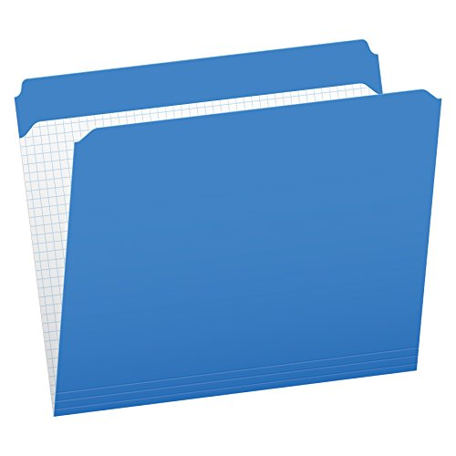 Pendaflex Color Reinforced Top File Folders, Letter Size, Full Tab Position, Blue, 100 Per Box (R152 BLU)