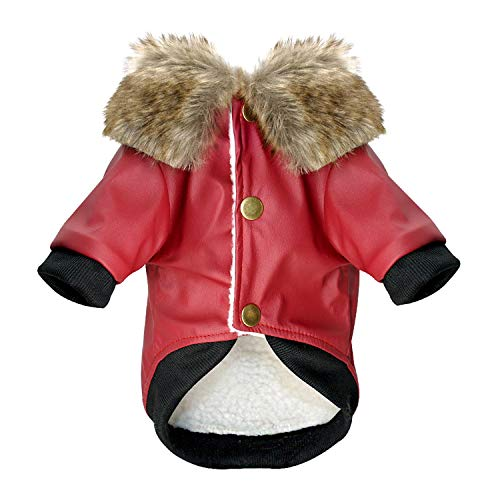 Waterproof Dog Clothes Leather Coat Winter Dog Jacket Coat for Small Dogs Pets Pug French Bulldog Schnauz