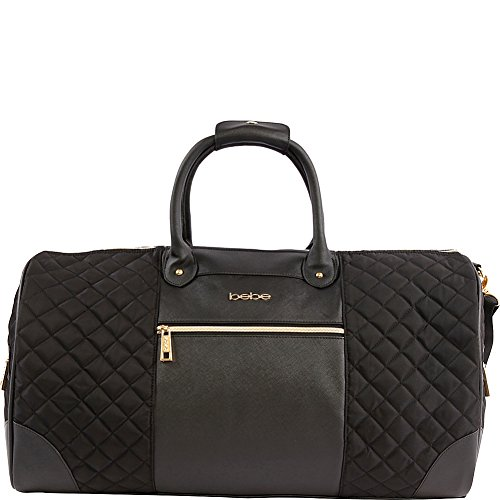 BEBE Mandy Weekend Travel Bag for Women, Black, One Size ()