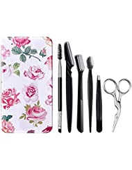 FITDON Eyebrow Grooming Set, Professional Slant Tip...