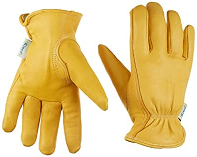 Kinco 035117090002 90Hkw Women's Lined Deerskin Leather Ranch and Work Glove, Small