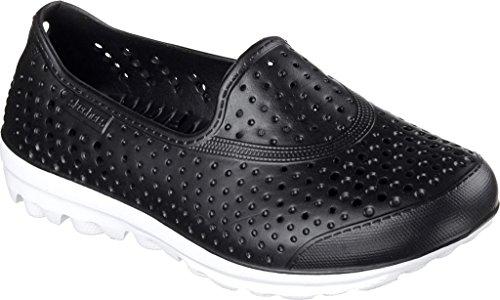 Skechers Girls H2 Go Waterlillys Slip On Walking Shoe Zwart / Wit