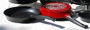 "Evaco Cast Ceramic Non-stick Fry Pan (9.5"", Red)"
