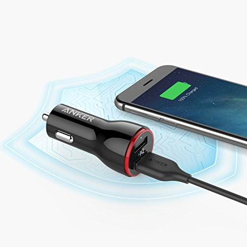 Anker PowerDrive 2 24W 48A 2 Port USB car Charger iPhone car Charger for iPhone 7 6s 6 6 Plus iPad Air 2 miniature 3 Galaxy S6 Edge Plus Note 5 Bluetooth Headsets GPS and significantly more Popular selections