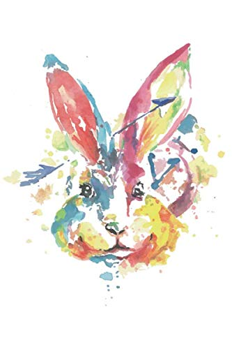 Journal: Watercolor Rabbit Notebook | 6 x 9 In, 120 Pages (Watercolor Spirit Animals)]()