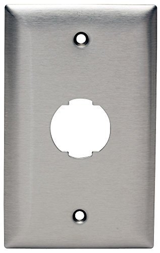 (Hubbell HISF11 HI-Impact Series Faceplate, Stainless Steel, 1 Gang, 1 Port)