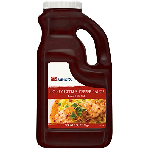 - Minor's Honey Citrus Pepper Sauce, Barbeque Sauce for Grilling, Soy and Citrus Flavor, 5 lb Bottle