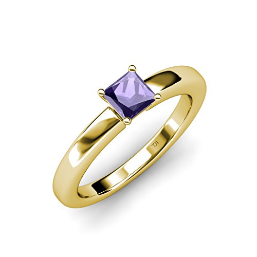 TriJewels Iolite Solitaire Ring 0.85 ct in 14K Yellow Gold.size 9 ()