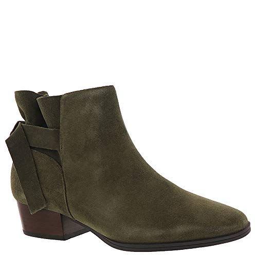 Aerosoles Women's Crosswalk Ankle Boot, Green Suede, 7 M US