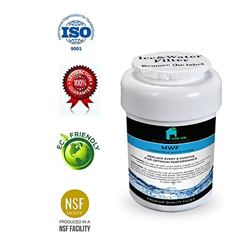 (GE MWF Refrigerator Water Filter - NSF Certified | Also Replacement for SmartWater, MWFA, MWFP, GWF, GWFA, Kenmore and side-By Side Fridge Appliances Models | By EconoHome)