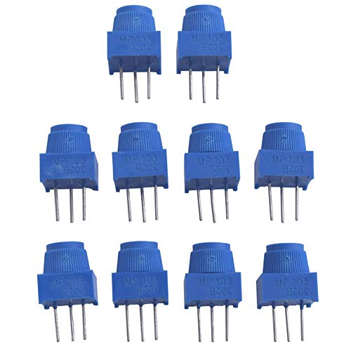 Onyehn Breadboard Trim Potentiometer 10K Ohm with Knob for Arduino (Pack of 10)
