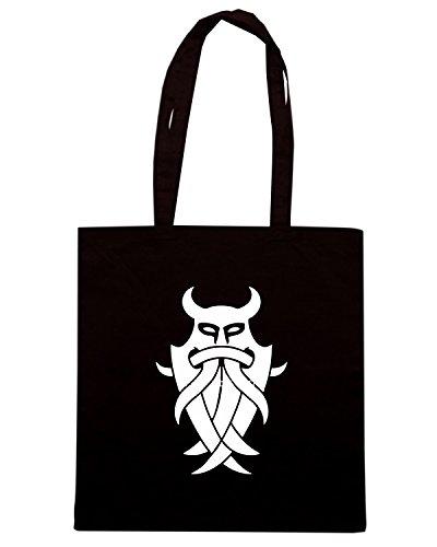 T-Shirtshock - Bolsa para la compra TIR0256 Odin s Mask Tribal Negro