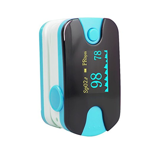 Careshine FDA approved OLED Fingertip Pulse Oximeter With Audio Alarm & Pulse Sound - Spo2 Monitor Finger Puls Oximeter