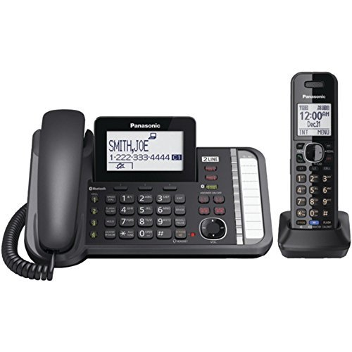 PANASONIC KX-TG9581B DECT 6.0 1.9 GHz Link2Cell(R) 2-Line Digital Cordless Phone (1 Handset) - ONE YEAR LIMITED Warranty by Panasonic