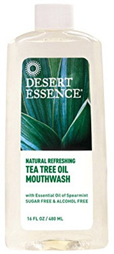 Desert Essence Tea Tree Oil Mouthwash 16 Fl Oz