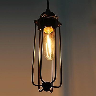 CLAXY® Ecopower Vintage Edison Industrial LOFT Hanging Light Mini Pendant Cage Lamp Guard Lantern