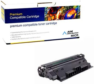 NO. 14X CF214XG 17500 Page Yield AIM Compatible MICR Replacement for HP Laserjet Enterprise 700 M712//725 Toner Cartridge - Generic