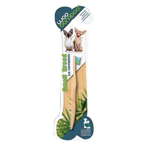 Woobamboo Small Breed Bamboo Pet Toothbrush