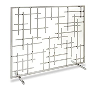 Pilgrim Home and Hearth 18267 Contemporary Fireplace Summer Screen, Polished Nickel