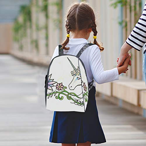 Kids school backpack,Unicorn Tattoo bag Waterproof Lightweight bookbags