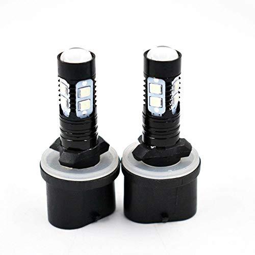 2 PCS 880 890 892 893 899 50W 8000K ICE BLUE LED Projector Fog Light Bulbs #1