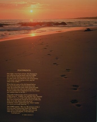 Amazoncom Wall Decor Footprints In The Sand Inspirational Quotes