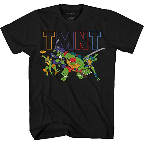 - Teenage Mutant Ninja Turtles Boys' Little Rise TMNT T-Shirt, Black, Medium