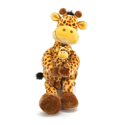 Large 32'' ''Geri The Giraffe with Little Geri Stuffed Animal Toy by Geri The Giraffe Collection