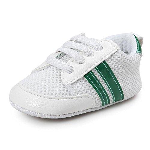 schuhe Jungen 0 Nette Baby weicher Sport kleinkind alt Schuh Grün Baby Antirutschstoff Schuh unterer 2 Säuglings Sunnyoyo Jahre 4AwdqS